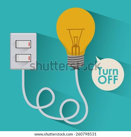 Light Bulb design, vector illustration - stock vector