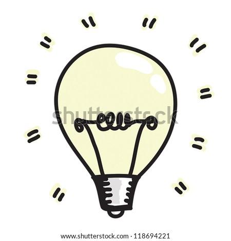 Light bulb Drawing - stock vector