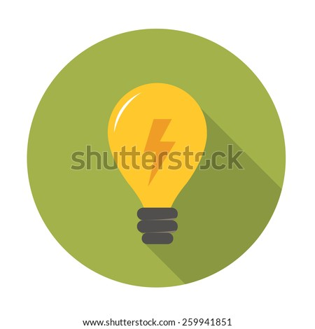 light bulb flat icon. vector illustration - stock vector