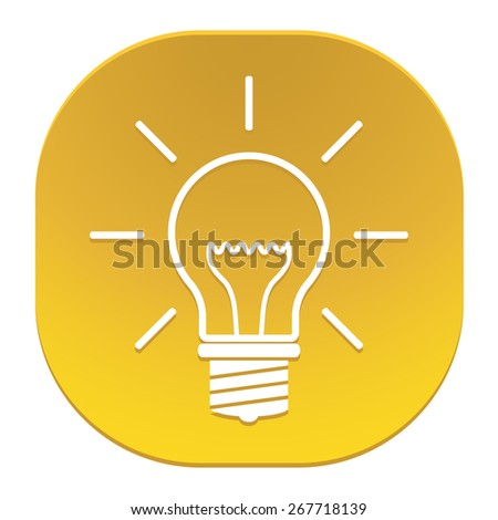 Light bulb icon. - stock vector