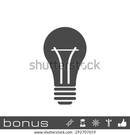 light bulb icon - stock vector