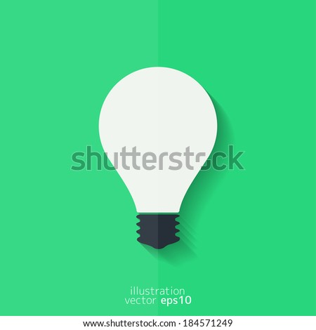 Light bulb icon. Flat design. - stock vector