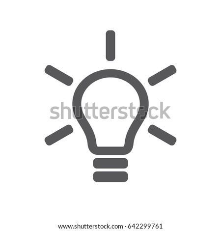 Light Bulb Icon Isolated On White Stock Vector Hd Royalty Free