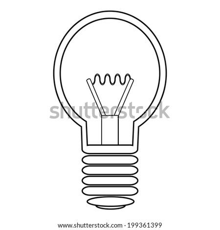 Light bulb icon on white background. - stock vector
