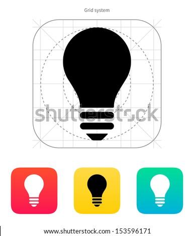 Light bulb icon on white background. Vector illustration. - stock vector