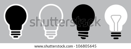 Light bulb icon set - stock vector
