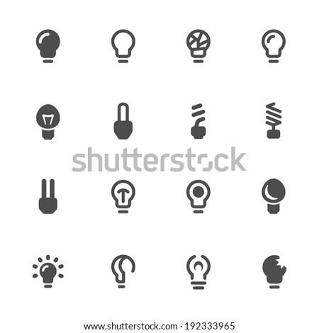 Light bulb icon set - stock vector