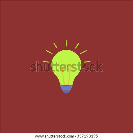 Light bulb. Icon Vector. Icon Picture. Icon Graphic. Icon Art. Icon JPG. Icon JPEG. Icon EPS. Icon AI. Icon FLAT. Icon SIMPLE - stock vector