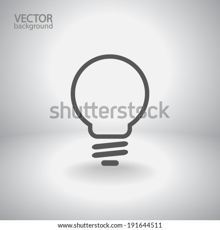 Light bulb  icon, vector illustration. Flat design style - stock vector