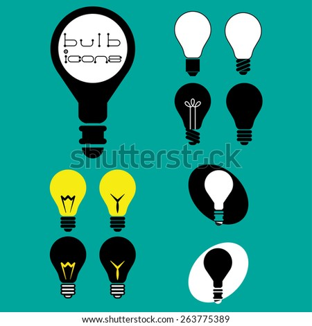 Light bulb icons. Idea or Innovation Concept. Vector illustration - stock vector