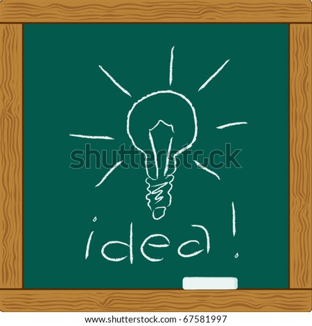 light bulb idea - stock vector
