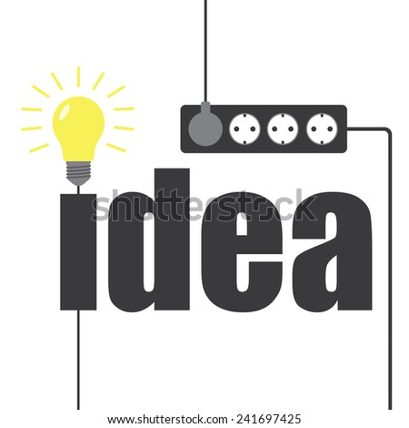 Light bulb idea and outlet - stock vector