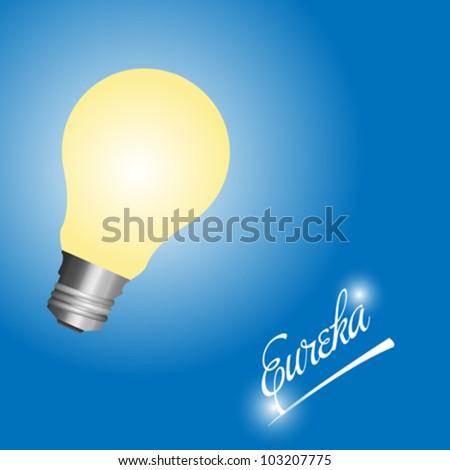 Light bulb idea card - stock vector
