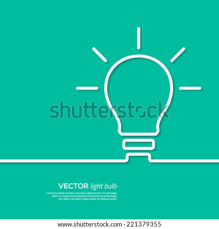 Light bulb idea concept template. Vector illustration. - stock vector