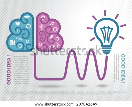 Light bulb idea concept. Thinking. - stock vector