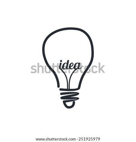 light bulb - idea theme - stock vector