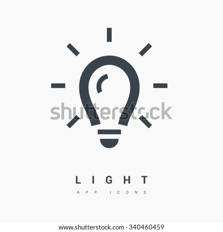 Light bulb isolated minimal single flat linear icon. Line vector icon for websites and mobile minimalistic flat design. Modern trend concept design style illustration symbol - stock vector