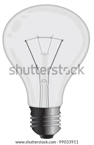 Light bulb isolated on a white background