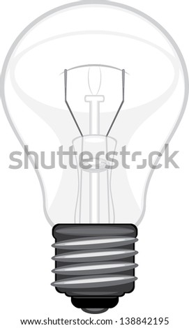 Light bulb isolated on the white. Vector