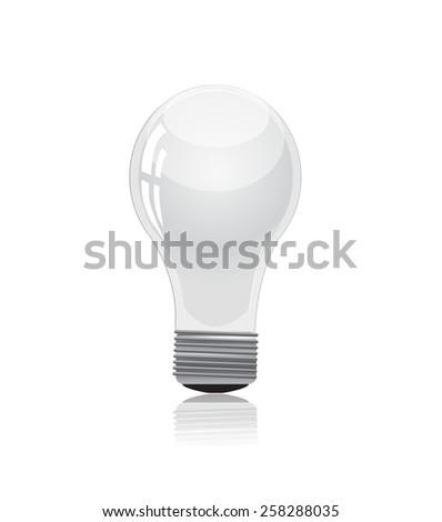 Light bulb isolated on white - stock vector