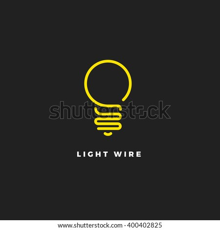 light bulb line vector logo template art eco energy power electricity idea concept