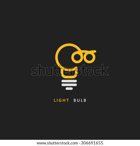 Light bulb line vector logo template. Bulb logo. Bulb line logo. Bulb line art logo. Eco energy line art. Energy line logo. Power line logo. Electricity line logo. Idea concept. Idea logo. Bulb logo - stock vector