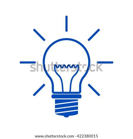 Light bulb - new ideas. - stock vector
