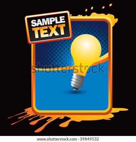 light bulb on orange splattered advertisement