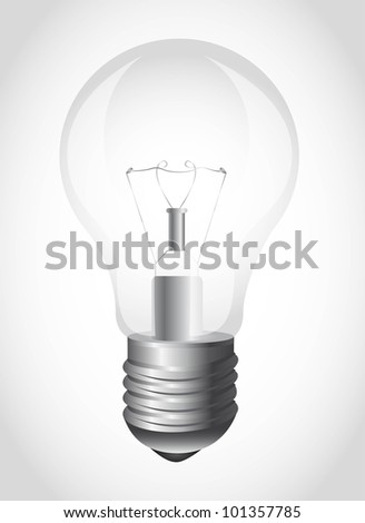 light bulb over gray background. vector illustration - stock vector
