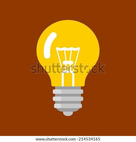 Light Bulb Shape as Inspiration Concept. Vector Illustration Flat Style. - stock vector