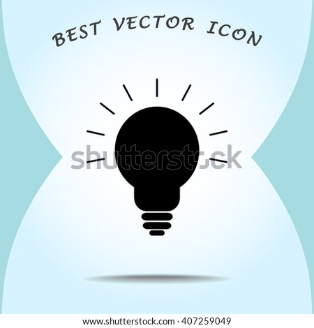 Light bulb sign icon, vector illustration. Flat design style