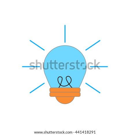 Light bulb sign ideas web icon vector design. Electricity idea power inspiration light bulb. Innovation bright concept light bulb. Creative light bulb invention illumination technology symbol. - stock vector