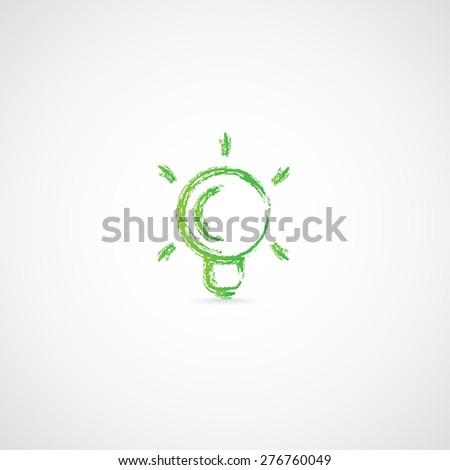 Light bulb.The bulb, saving energy. - stock vector