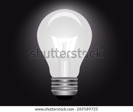 light bulb to illuminate the premises on a black background