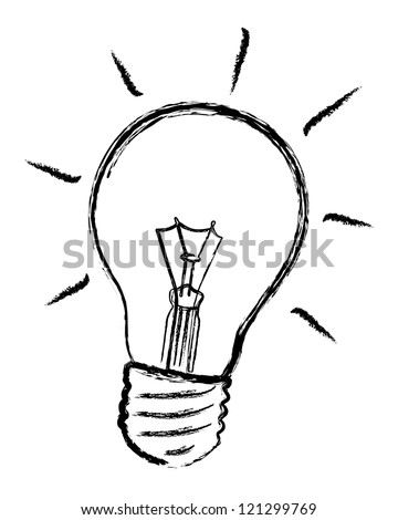 light bulb vector - stock vector