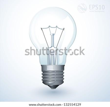 Light bulb. Vector. - stock vector