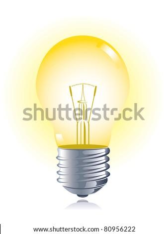 Light bulb, vector - stock vector
