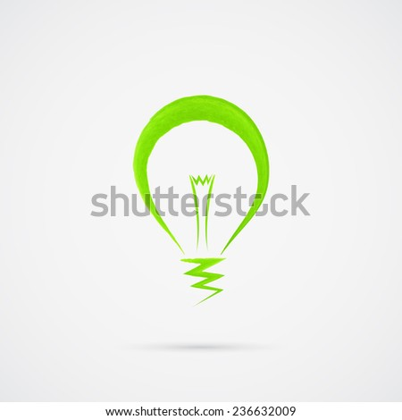 Light bulb vector design logo template. Emblem symbol.  Ecology bulb light vector icon. Vector illustration - stock vector