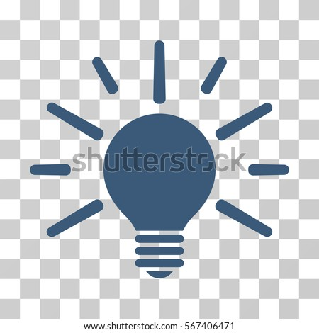 vector square blue icon lighting bulb. light bulb vector icon illustration style is flat iconic blue symbol on a transparent background square lighting