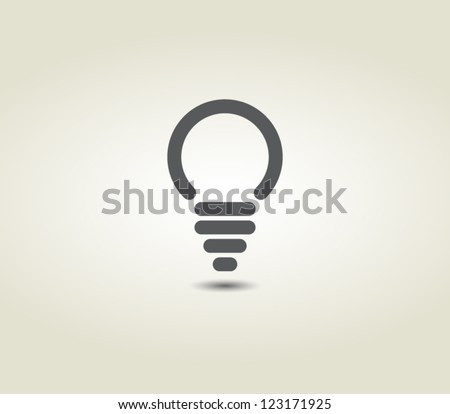 Light bulb vector icon, minimal style, pictogram - stock vector