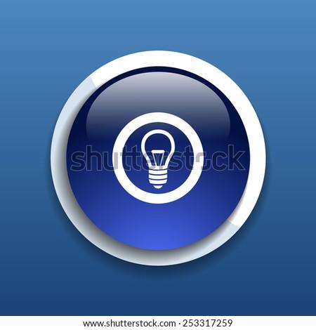 Light bulb vector icon vector lamp illustration - stock vector