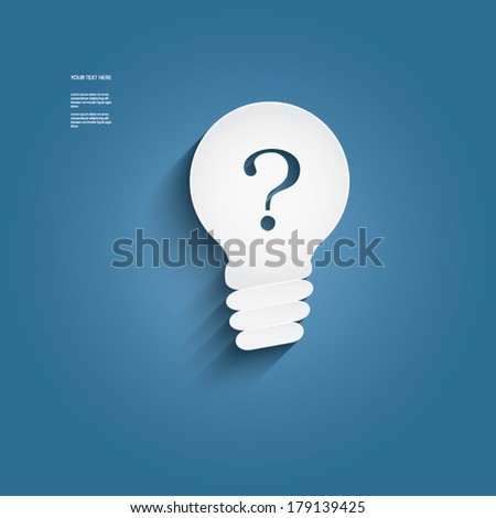 Light bulb vector icon with question mark, searching ideas concept. Eps10 vector illustration - stock vector