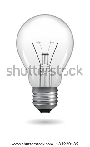 Light bulb. Vector illustration