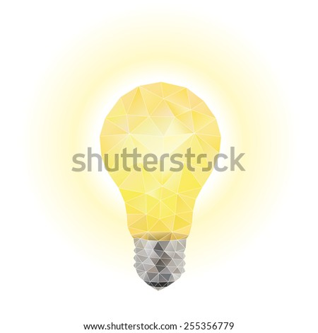 Light bulb. Vector Illustration on Low Poly Style - stock vector