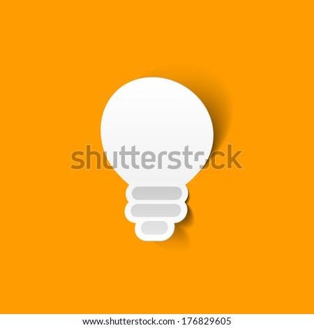 Light bulb vector sticker - stock vector
