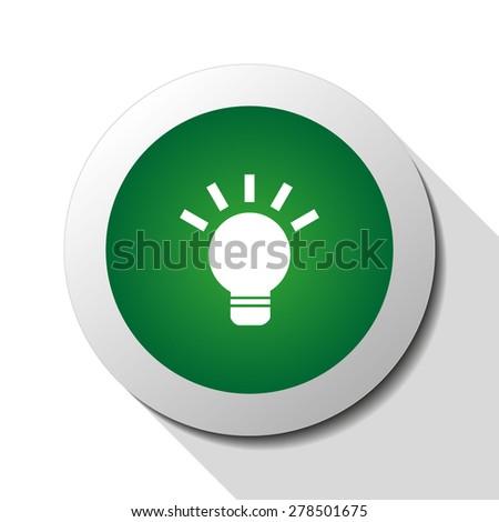 Light bulb, web icon. Vector design - stock vector