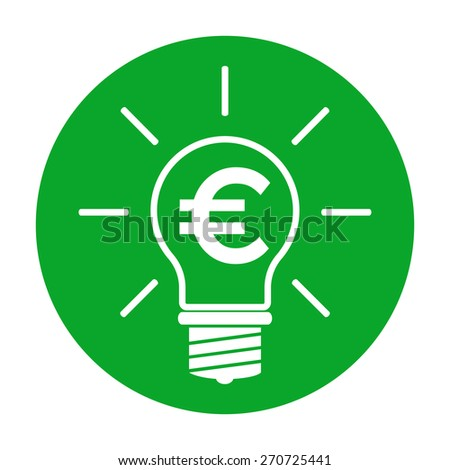 Light bulb with euro symbol business concept - stock vector