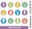 Light bulbs. Bulb icon set - stock vector