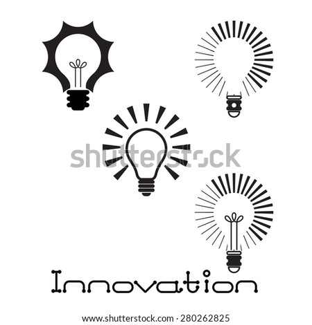 Light bulbs icon. Innovation concept. Vector illustration - stock vector