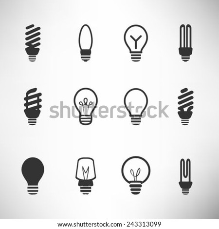 Light bulbs icon set  - stock vector